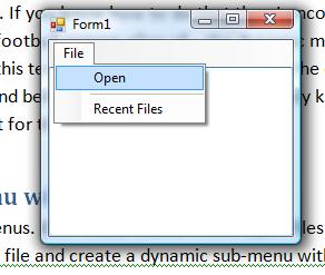When to use a menu strip
